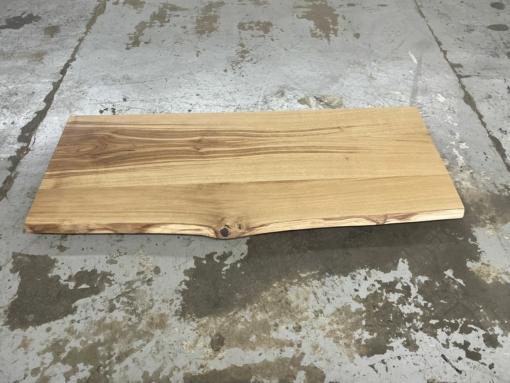 Schreibtischplatte Eiche massiv mit Baumkante geölt
