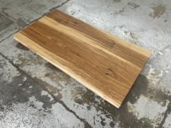 Schreibtischplatte Eiche massiv geölt mit einseitiger Baumkante