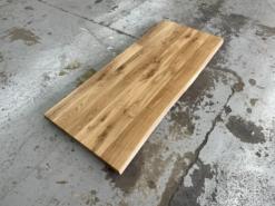 Schreibtischplatte Eiche massiv rustikal geölt mit Baumkante
