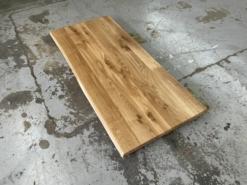 Schreibtischplatte Wildeiche massiv mit Baumkante