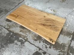 Schreibtischplatte Wildeiche massiv rustikal Baumkante