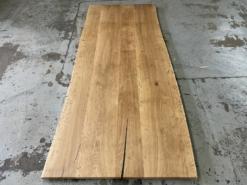 Tischplatte Eiche massiv mit Baumkante rustikal