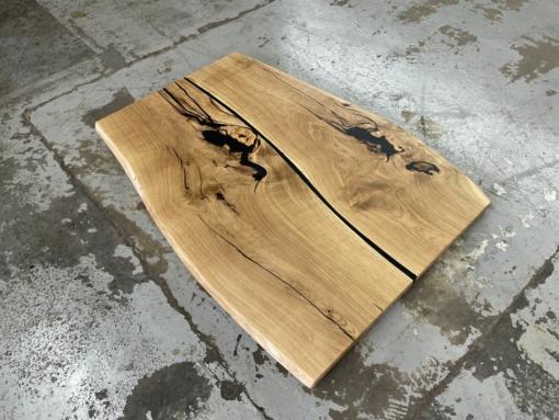 Tischplatte Eiche massiv mit Epoxidharz geölt