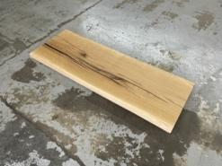 Waschtischplatte Wildeiche Eiche aus einem Stück mit Baumkante